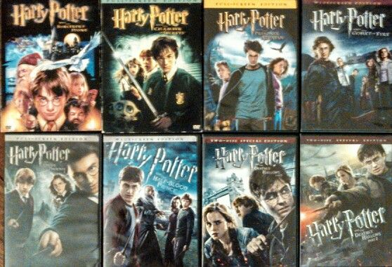 Harry Potter DVD covers <3