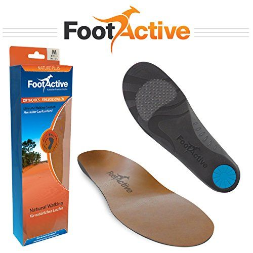 From 22.95 Footactive Nature Plus Insoles full-length Leather Arch Support Orthotic Insole Proven To Help Reduce Heel Pain Plantar Fasciitis Knee Pain Back Pain And Achilles Tendonitis Uk 7 - 85 (m)