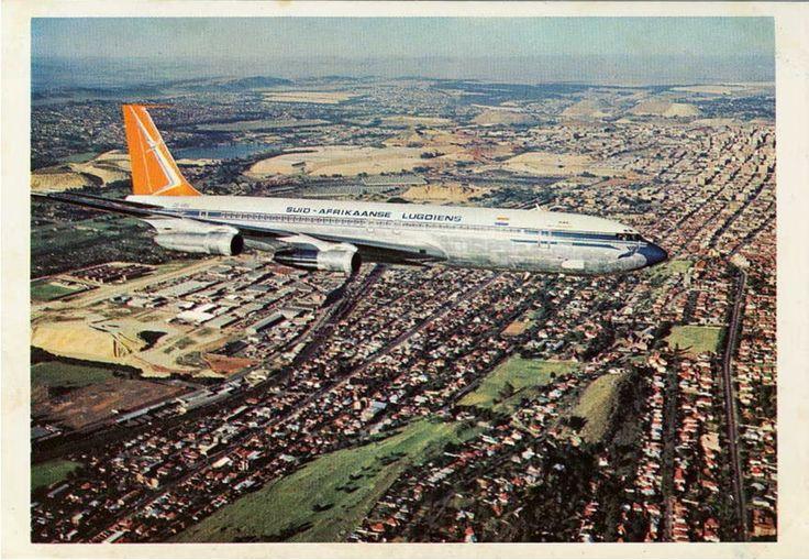 SAA 707 over Johannesburg