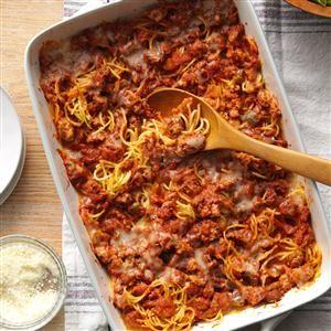Rich Baked Spaghetti Recipe