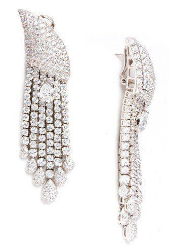 STAR Earrings C$4,894 - FERI 950 Siledium Silver http://bit.ly/1IAIH1Y