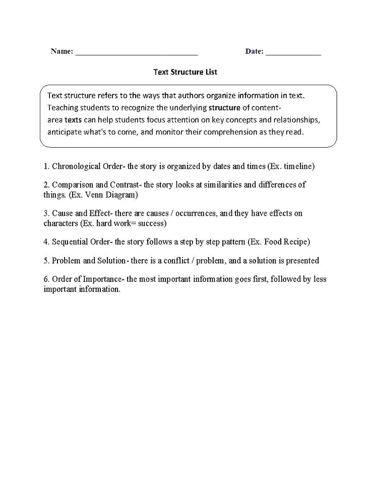 The 25+ best Text structure worksheets ideas on Pinterest ...