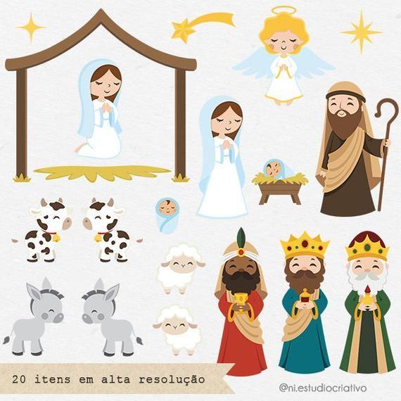 Nativity Scene Clipart Set Imagenes Predisenadas De Navidad Etsy Nativity Scene Clip Art Christmas Clipart