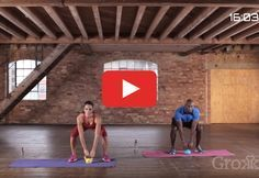 Hit the mat and break a sweat with this workout that combines cardio and strength via grokker.com