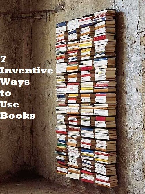 7 Inventive Ways to Decorate with Books