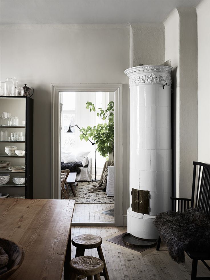 Mix of old and new in a Scandinavian home