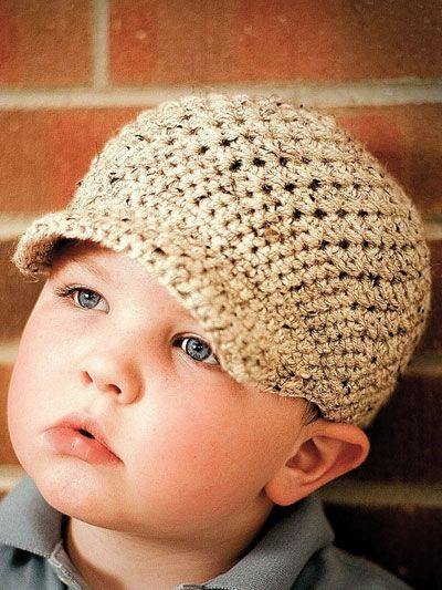 Crazy Easy Textured Newsboy Cap Crochet Pattern Download from e-PatternsCentral.com -- This lightweight newsboy cap features airy, textured stitches that are easy to achieve. Pop on a button or crochet flower, and you have your own personalized newsboy design. ༺✿ƬⱤღ http://www.pinterest.com/teretegui/✿༻