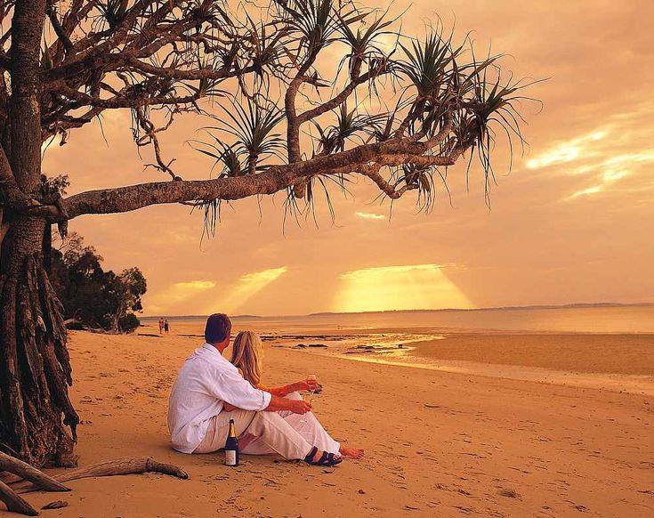 Romantic Sunset on Fraser Island kingfisherbay