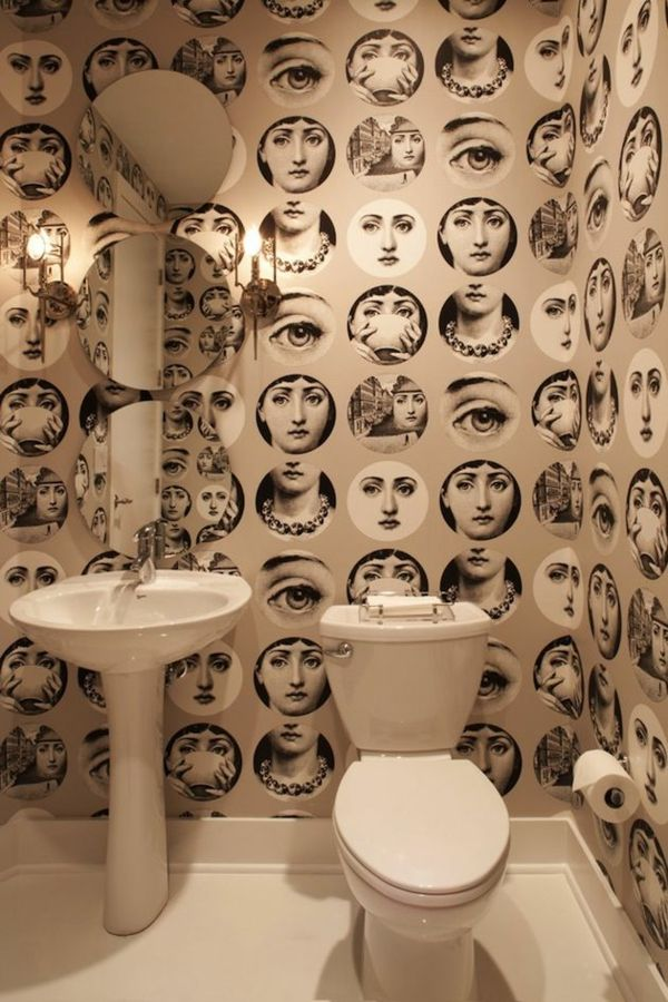 GroBartig We Love The Idea Of Putting Trippy Wallpaper In Such A Small Space! 18 Chic  Interior Designs Inspired By Pop Decorating House Design Design Ideas