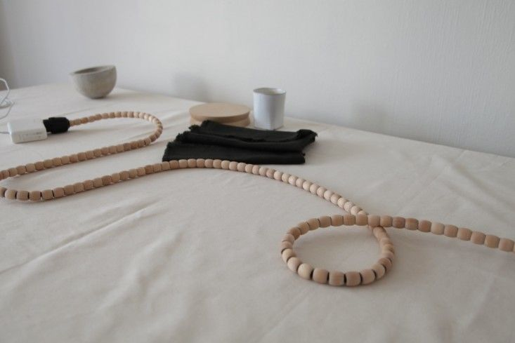 DIY Beaded Extension Cord, My First Apartment, Home for the Holidays with Home Depot | Remodelista