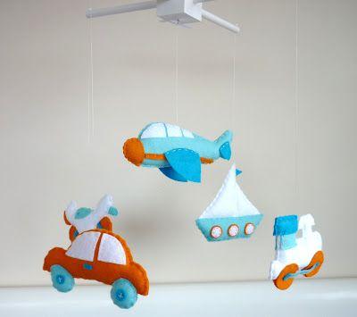 Bebek odaları için keçe tasarımlar