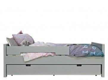 BETT 90x200 JONNE PURE GREY (inklusive 2 Rausfallschutze) - Teen Betten - Kids