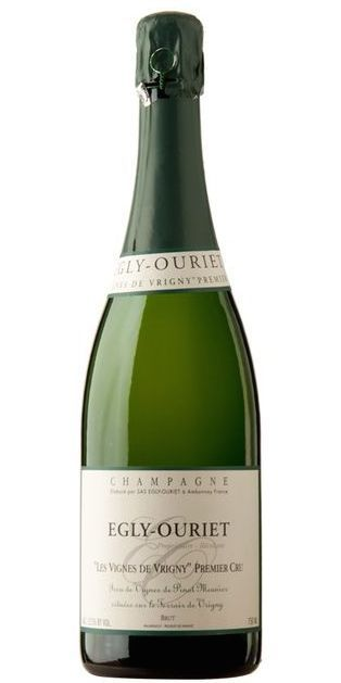 Egly-Ouriet Brut Les Vignes de Vrigny Premier Cru (with disgorgement date of September 2013 following 36 months on lees)—a unique Champagne produced exclusively from the Pinot Meunier grape, with rich complexity and evocative nutty notes over racy citrus tartness; a glorious next bottle to follow the much louder but less interesting Dom Pérignon Vintage 2004; around €45 from various sellers