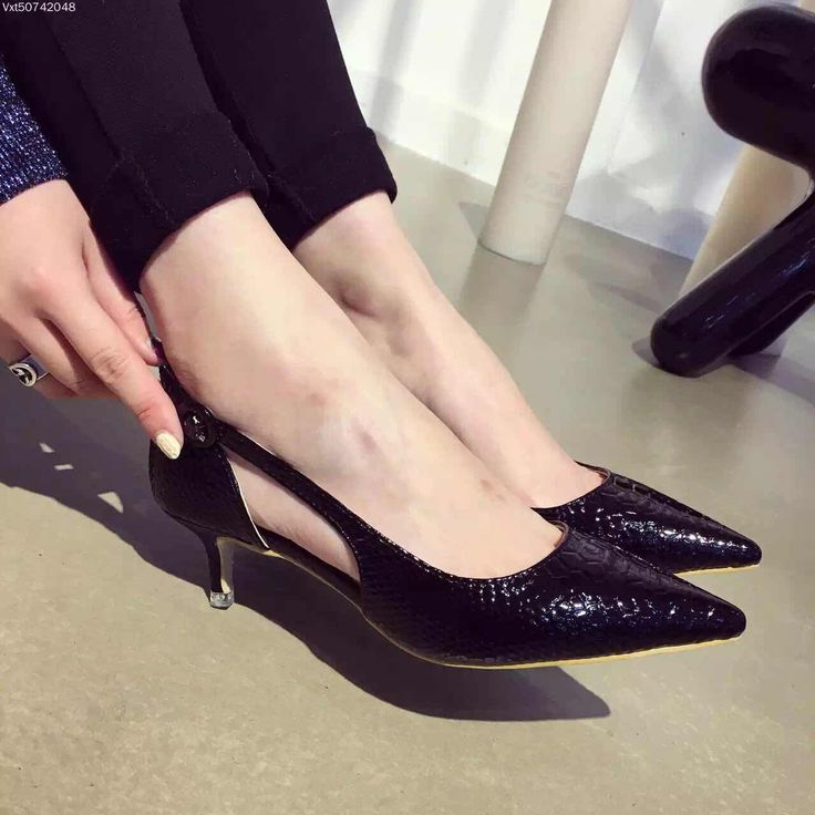 Sexy Women Pumps Hollow Buckle Strap Sandals Summer Wedding Shoes Snakeskin Pattern Women Low Heels Shoes 3.5cm-in Women's Pumps from Shoes on Aliexpress.com | Alibaba Group