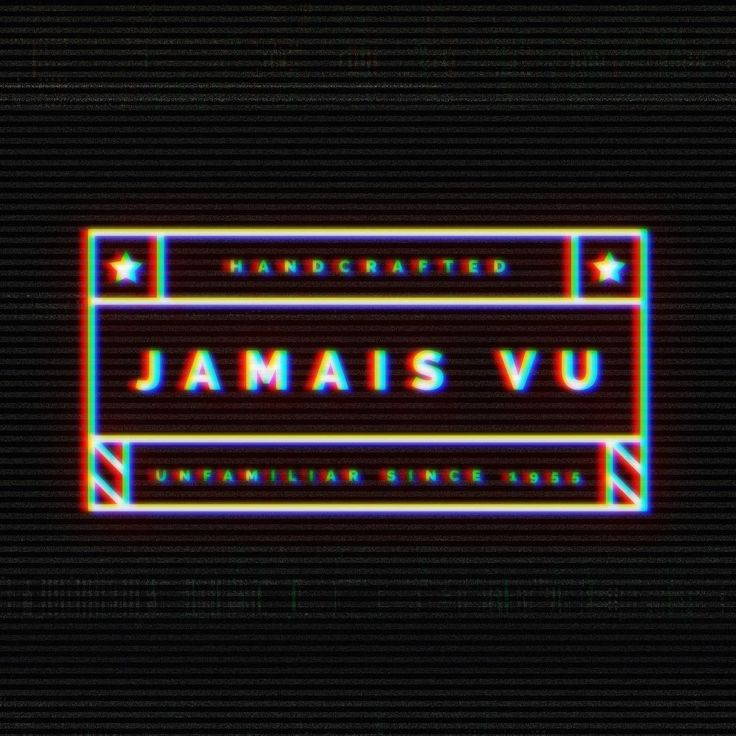 """Jamais vu (/ˈʒɑːmeɪ ˈvuː/; from French, meaning """"never seen"""") is the phenomenon of experiencing a situation that one recognizes in some fashion, but that nonetheless seems very unfamiliar. #jamaisvu #jamais #logo #logotype #branding #brand #forget #dejavu #french #black #bnw #3d #typo #portfolio #behance #design #designer"""
