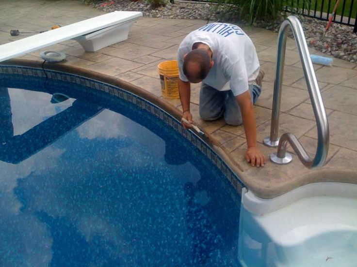 Concrete Pool Coping Stamped Concrete Pool Decks By