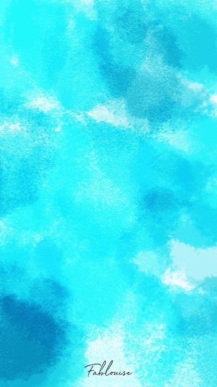 Wallpaper Watercolor Blue Fablouise Nl Blue Wallpaper Iphone