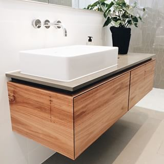 timber laminate bathroom vanity - Google Search