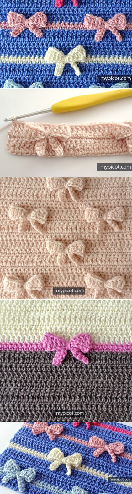 MyPicot | Free crochet patterns - crochet with bow