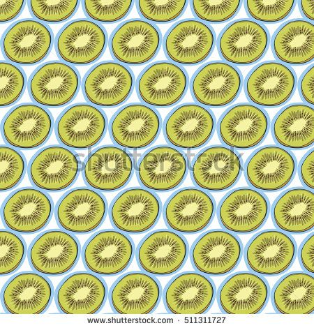 kiwi fruit vector pattern.swatch pattern