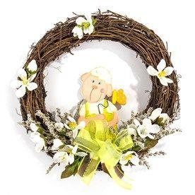 Velikonoční věnec s ovečkou