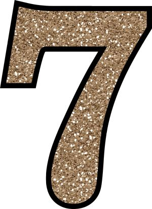 Glitter Without The Mess! Free Digital Printable Glitter Numbers 0 - 9: Glitter Number 7 To Print