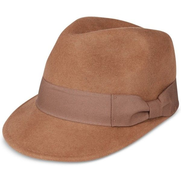 Popz Topz Men's Wool Fedora (26 KWD) ❤ liked on Polyvore featuring men's fashion, men's accessories, men's hats, camel, mens fedora hats, mens wool fedora hats, mens wool fedora, vintage mens accessories and vintage mens fedora hats