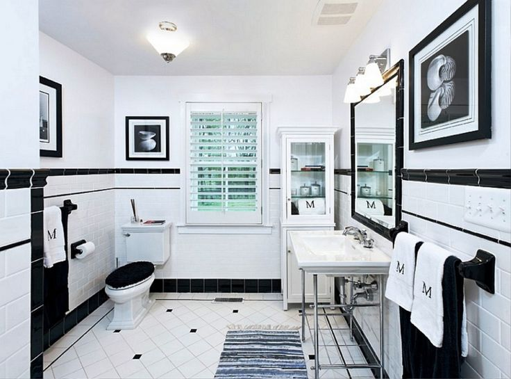 471 Best Badkamer Images On Pinterest  Bathroom Bathrooms And Amazing Black And White Mosaic Tile Bathroom Review