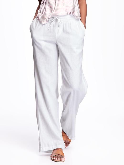Wide-Leg Linen Pants for Women (Old  Navy $25--3/30/16) not sure I can keep them clean, hahaha!