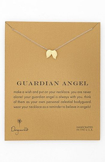 Dogeared 'Reminder - Guardian Angel' Boxed Wings Pendant Necklace available at #Nordstrom #dogeared #sharethehappy