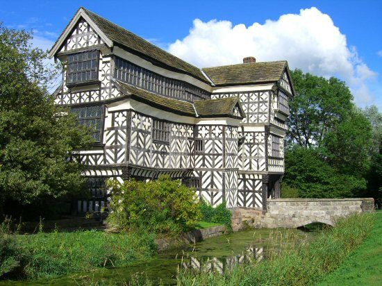 Image result for little moreton hall at night
