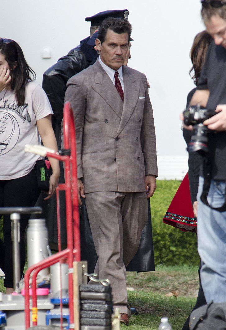 Pin for Later: The Weekend's Must-See Snaps!  Josh Brolin filmed scenes for Hail, Caesar! in LA on Friday.