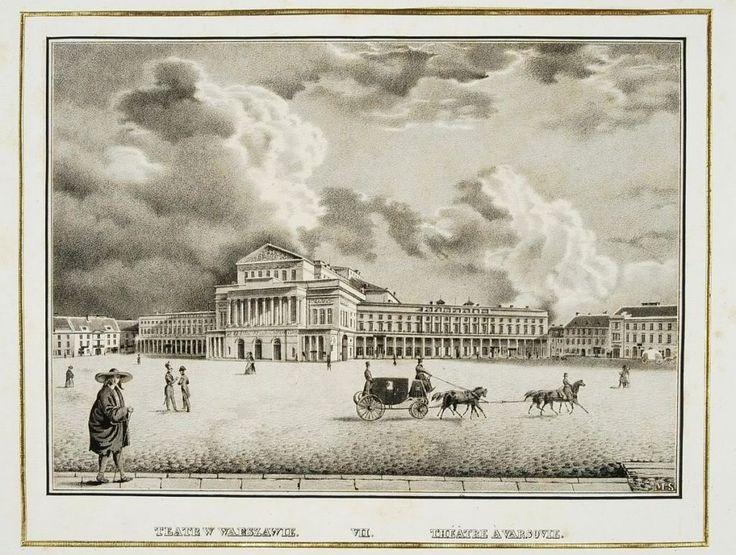 Teatr Wielki w Warszawie, grafika Maurycego Stolza z 1841 roku