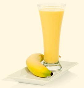 Morning citrus smoothie  5 cubes of ice   1C orange juice   1 tbsp organic extra virgin coconut oil   1 scoop plain or vanilla protein powder   1/2C quick cooking oats   1 banana