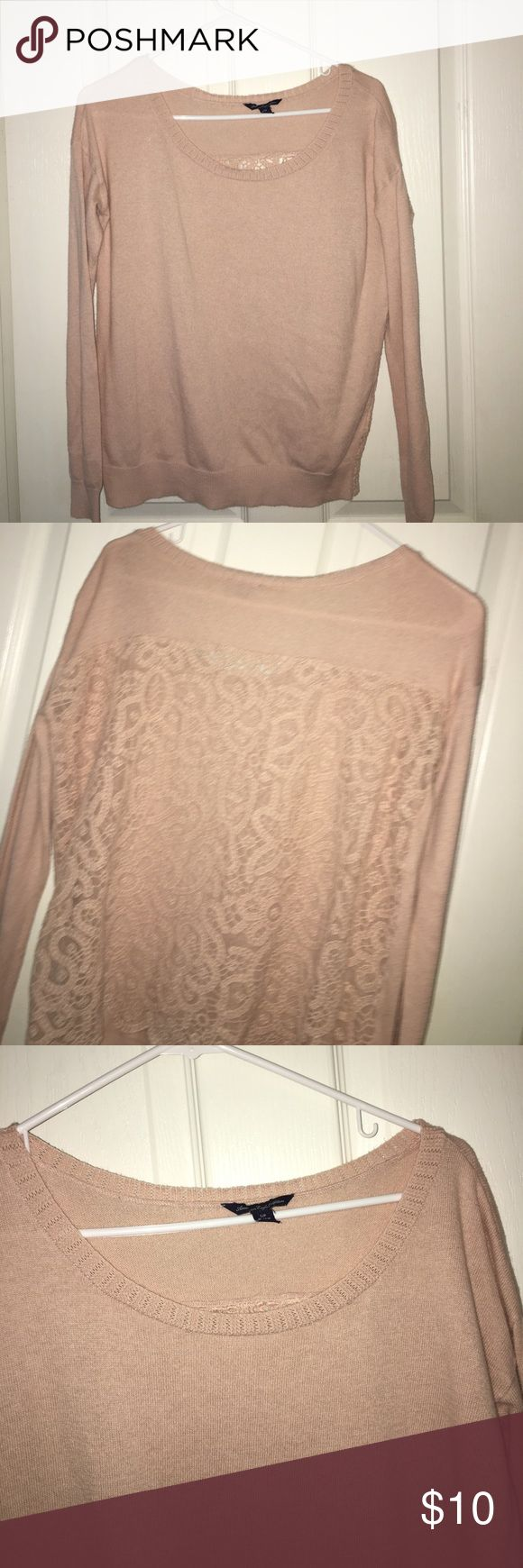 American Eagle Sweater American Eagle Sweater, design on the back, good quality American Eagle Outfitters Tops Tees - Long Sleeve