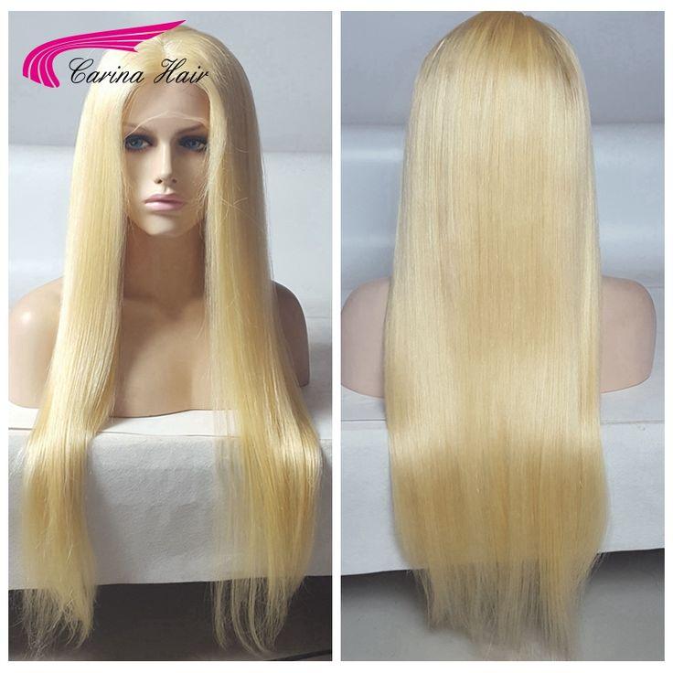 Blonde Full Lace Human Hair Wigs 150 Density Virgin Brazilian long blonde Wig Straight Human Hair Wigs free shipping blonde wig