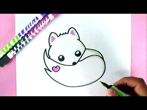 Comment dessiner un Renard Blanc Kawaii   DESSIN FACILE ...