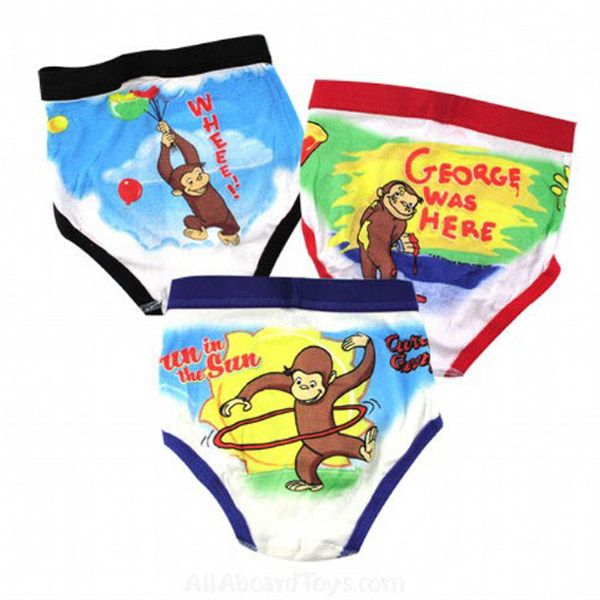 Curious George Boys Underwear Briefs by Fruit of the Loom | Potty Training Concepts