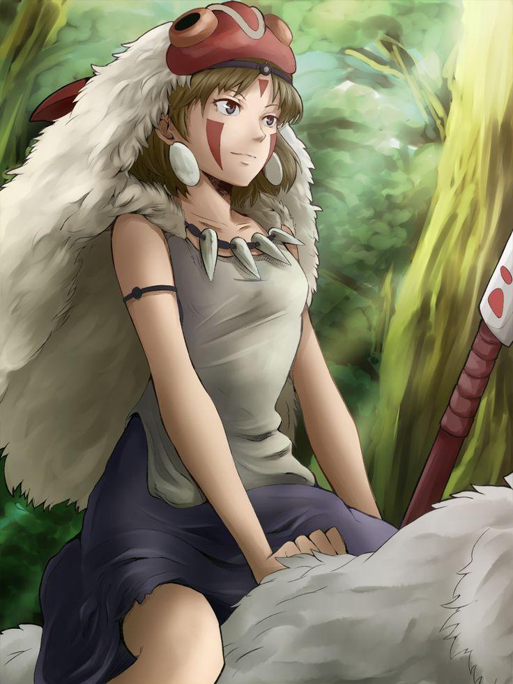 """サン by POKImari - San from Miyazaki's """"Princess Mononoke"""""""