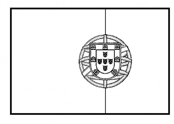 Portugal Flag Coloring Pages Coloring Coloringpages Flag