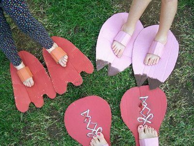 """Wacky Feet - these would make the children work a few muscles! ("""",)"""