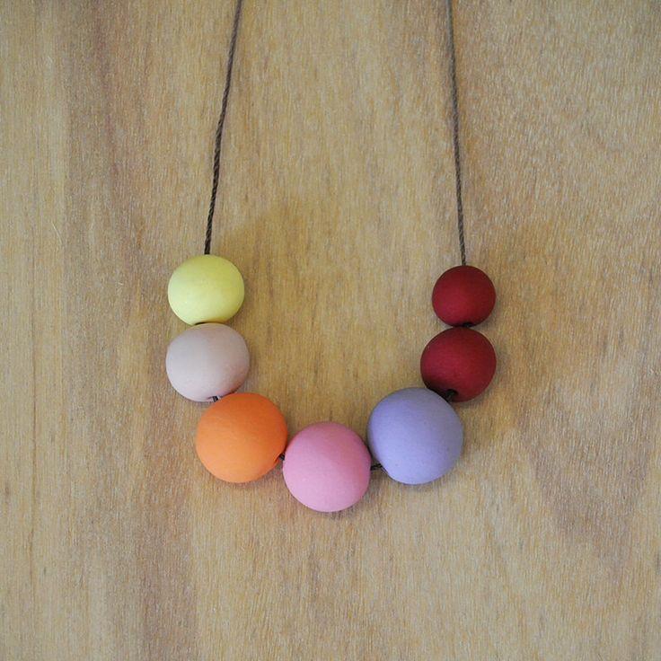 Handmade Round Bead Clay Necklace - Show Pony - Custom Order by ThatWeDo on Etsy https://www.etsy.com/listing/205019714/handmade-round-bead-clay-necklace-show