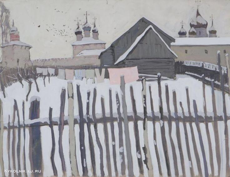 1966-69 годы Попков Виктор Ефимович (Россия, 1932 - 1974) «Никитский монастырь»