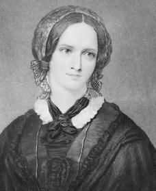 "Charlotte Bronte, author of ""Jane Eyre."""