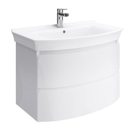 Hudson Reed 800 Canopy Wall Mounted 2 Drawer Basin & Cabinet - White - FCA009