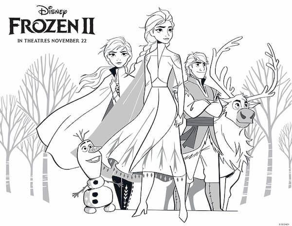 Dibujos De Frozen 2 Para Colorear Imagenes Y Dibujos Para Imprimir Elsa Coloring Pages Disney Coloring Pages Frozen Coloring