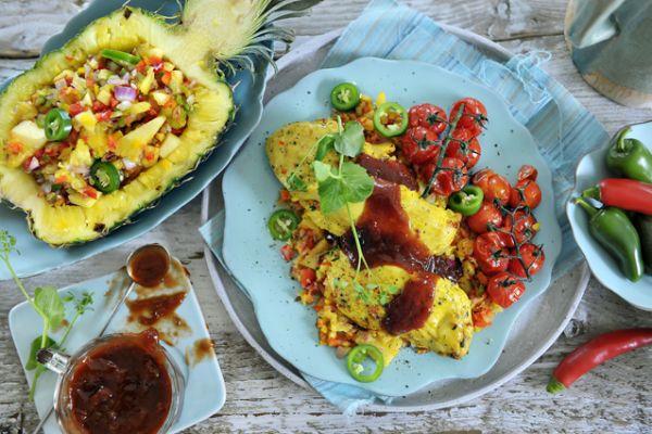 Tropische kip met ananas - salsa