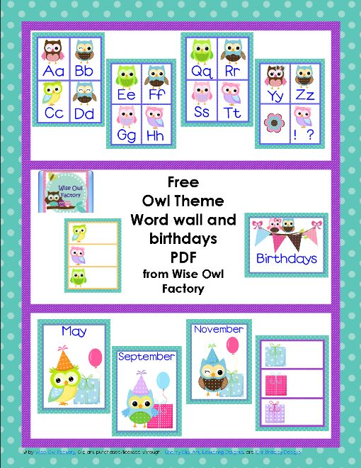 Blog post at BookaDay : FREE OWL THEME CLASSROOM Printables Here is my ALWAYS FREE owl theme classroom in a zipped folder, with over 130 pages to help classroom te[..]