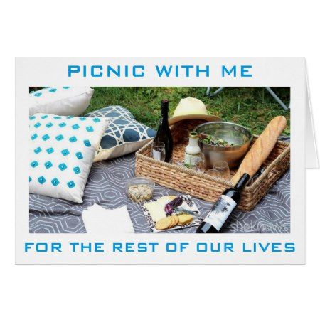 'PICNIC WITH ME' FOR THE 'REST OF OUR LIVES' CARD - click/tap to personalize and buy