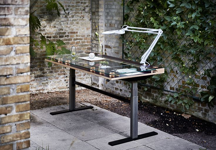 """This desk is designed by @tinemouritsendk and is called """"The Botanical Table"""". We absolutely love the idea of combining the outdoor feeling with functional interior design. The desk is of course height adjustable – a true example of what happens when design meets movement. #designmeetsmovement #movingisliving #greenliving #urbanliving #orgatec2016 Photo credit: @solyst"""